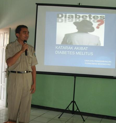 Katarak diabetes disampaikan oleh Zainul Arifin Amd.Kep